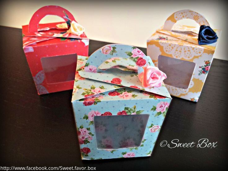 Floral Favor Box, gift box