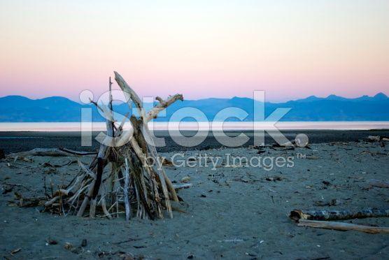 Dusk on Motueka Spit, Tasman, New Zealand royalty-free stock photo