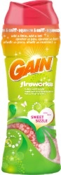 Reviews of Gain Fireworks scent booster, plus problems with it staining and how to remove those stains.