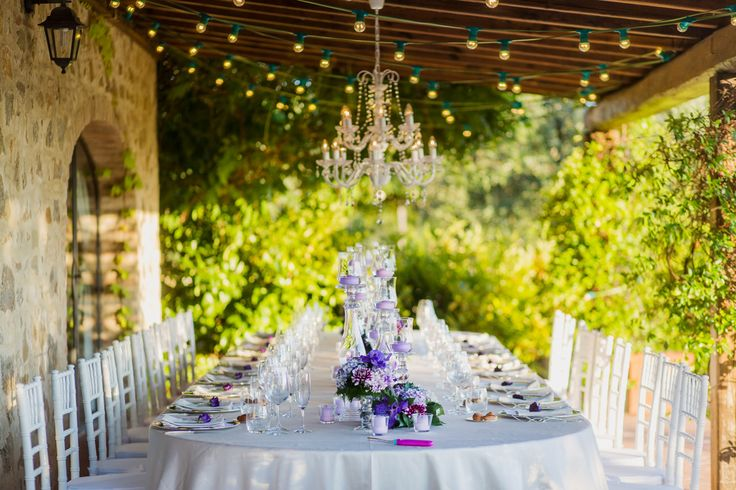 Sarah and Jared proved that you don't necessarily need a grand wedding party with hundreds of guests to invite. Sometimes all you need are a few closest family members, stunning view as the wedding location and a splash of your favorite color to create a truly memorable celebration. on http://www.bridestory.com/blog/an-intimate-tuscan-wedding-with-shades-of-purple