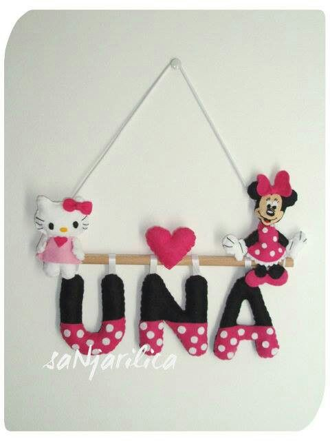 Minnie & Hello Kitty name banner