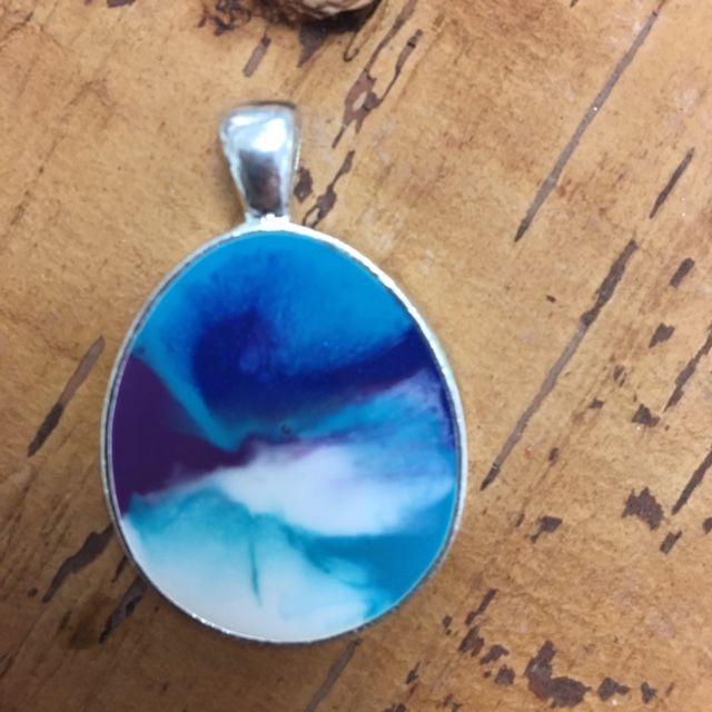 Lovely resin pendant