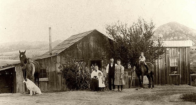 Homestead in Riverside, California at the location of Riverside Community College, 1899