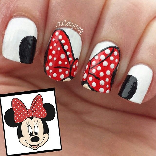 Best 25 minnie mouse nail art ideas on pinterest disney nails minnie mouse ears and bow prinsesfo Choice Image