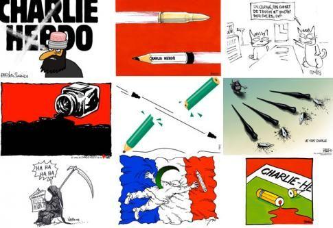HOMMAGE • Des dessins pour notre ami Charlie - Courrier International #jesuischarlie #charliehebdo