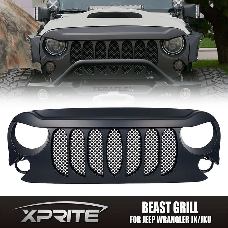 Xprite BEAST GRILLE Front Matte Black with Built-In Mesh for Jeep Wrangler JK | eBay Motors, Parts & Accessories, Car & Truck Parts | eBay!