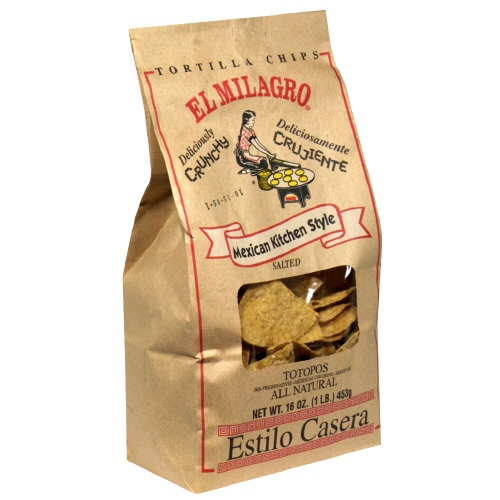 "El Milagro ""Totopos"" Homestyle Corn Tortilla Chips. Mexican Kitchen Style #Texas 