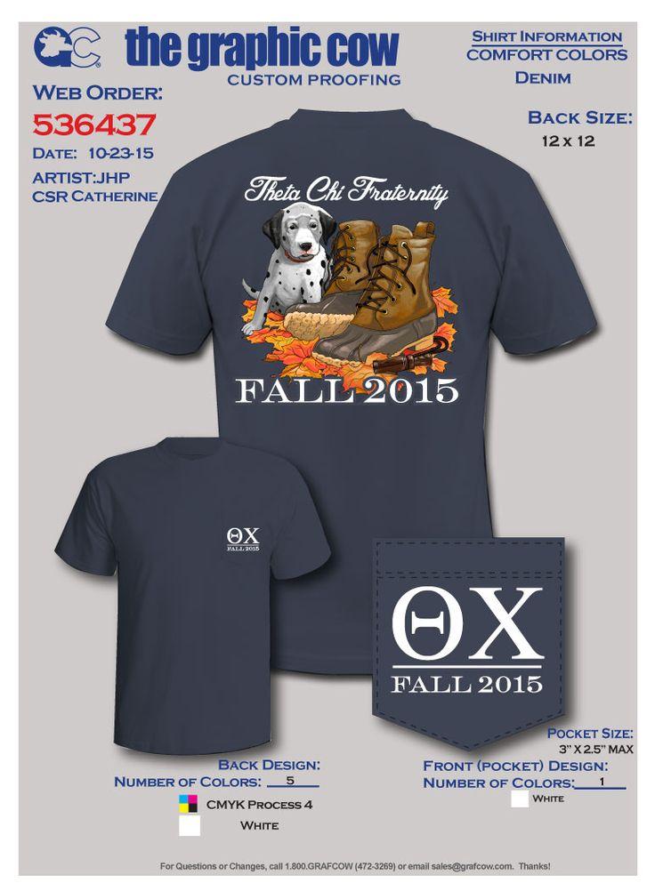 Theta Chi Fraternity Fall Rush design  GRAPHIC COW TSHIRT ART  Fraternity rush shirts Rush