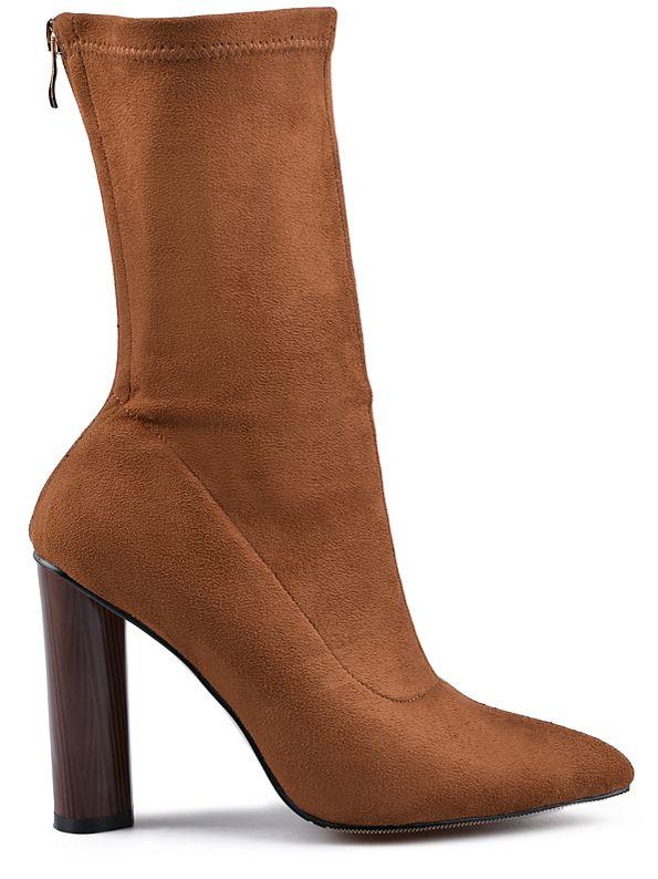 Γυναικείες μπότες TENDENZ - καραμέλα