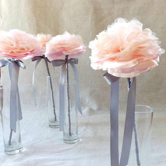 Single Flower Wand for Bridesmaid in Blush Pink on Etsy, $30.00