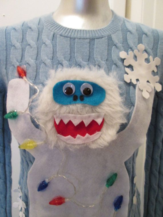 Abominable Snowman with REAL LIGHTS Ugly by MotherFrakers on Etsy