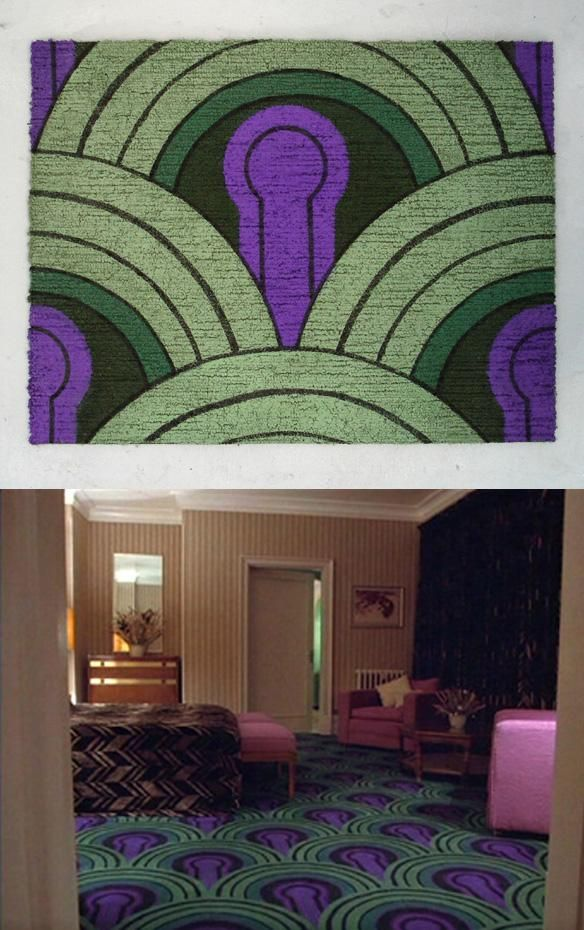 From The Shining (film), carpet in Room 237 of the Overlook Hotel.
