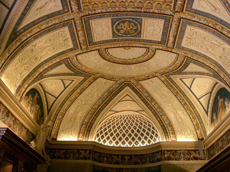 Ceiling Vatican Museum Rome Italy Architecture