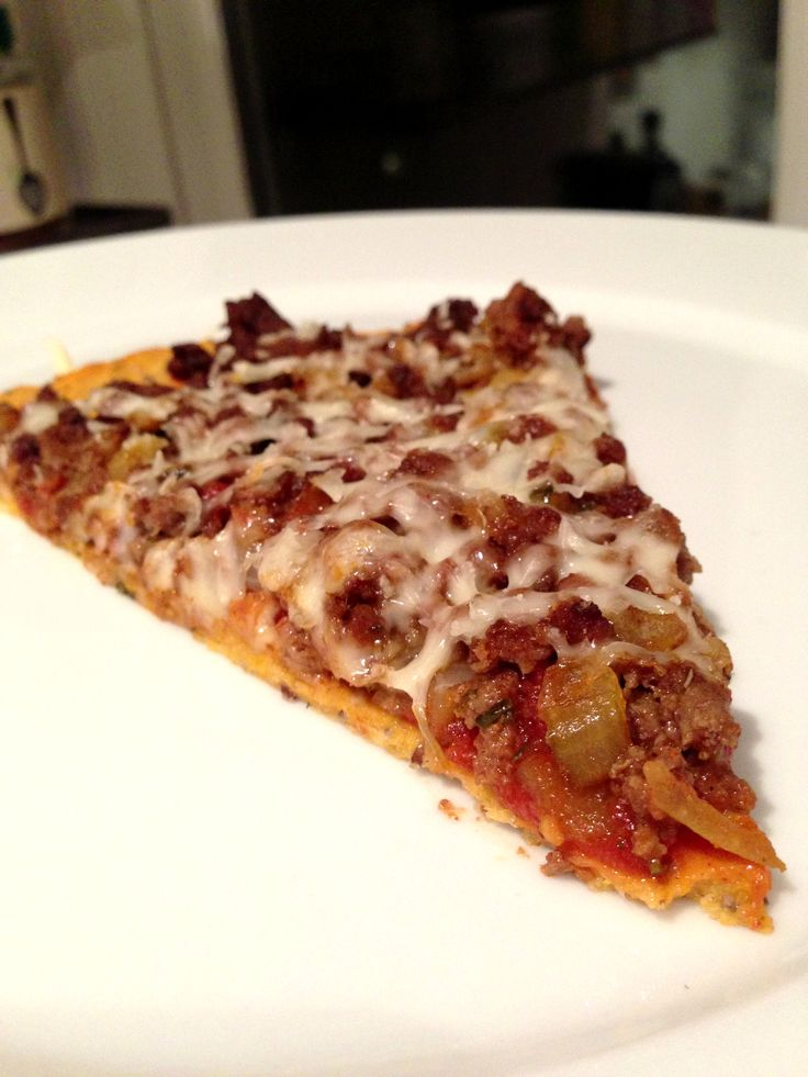 Delicious pizza crust made on sweet potato