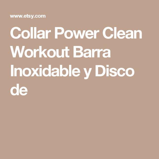 Collar Power Clean Workout Barra Inoxidable y Disco de