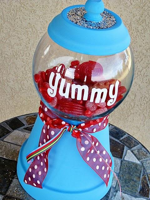 DIY Gumball candy jar