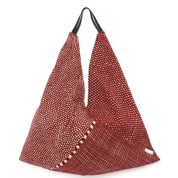 Furoshiki Tote Bag Red Dots and Stripes : SOU • SOU US Online Store