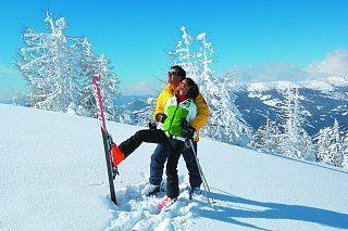 http://www.ronacher.com/winterurlaub-kaernten.htm.html Skifahren in Kärnten im Sonnenschein