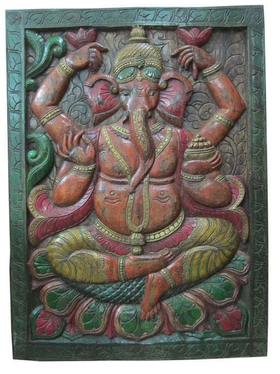 Mogulinterior is a online store for Indian Decor India Wooden Furnitures antique armoires Apparels u0026 Brass Statues directly to customers from India & 13 best Reduce Prices carved wood wall art images on Pinterest ...