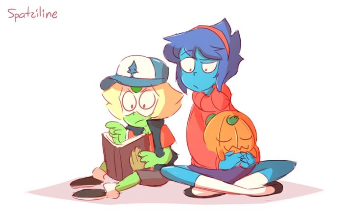 Peridot and Lapis as Dipper & Mabel from Gravity Falls. I got nothing else to say except that it's so cute.