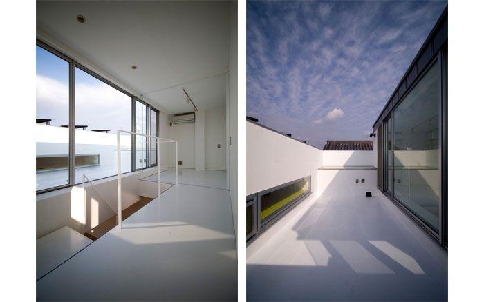 岡町の家 鉄骨3階建の開放的な家 3階プライベートルームと屋上