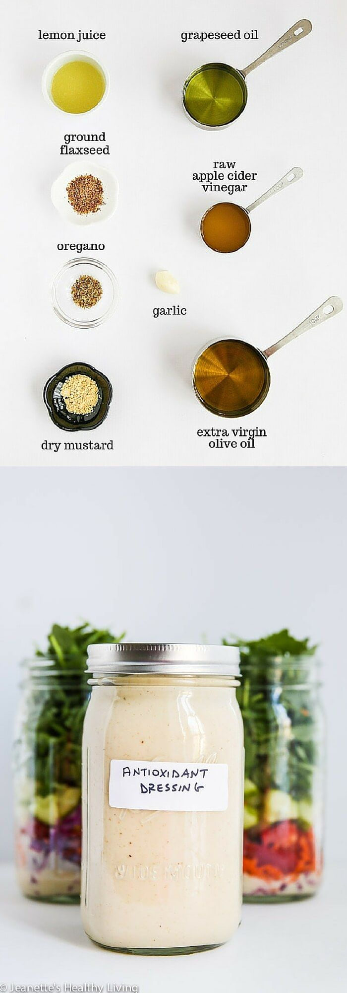Antioxidant Salad Dressing - this is a healthy, versatile salad dressing made with ground flax seeds and raw apple cider vinegar ~ http://jeanetteshealthyliving.com
