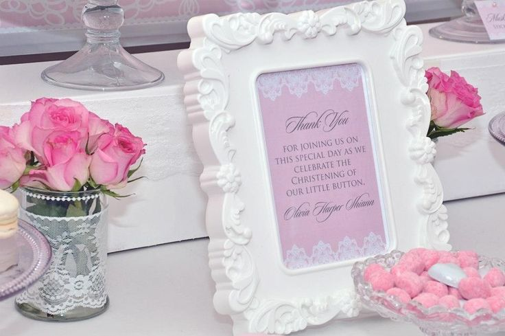 Lace and Pearls Christening Dessert Table by Once Upon A Table Events