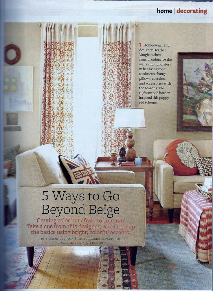 Curtain Idea Better Homes And Gardens Magazine July 2012