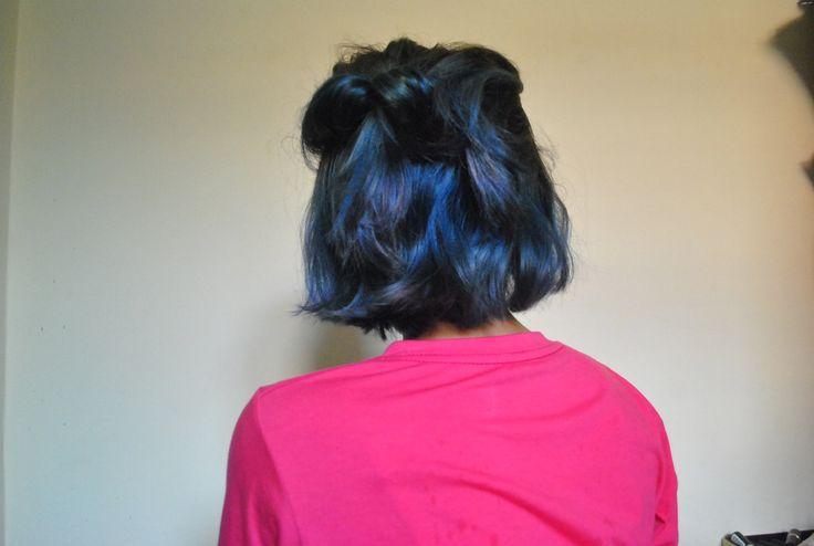 LOLANE blone+blue+ ECR hair color cream- blue. taken May 14th, 2014