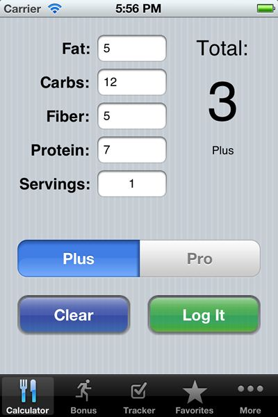 Weight Watchers Points Chart Printable | Weight Watchers Points Plus Calculator and Tracker iPhone App ...