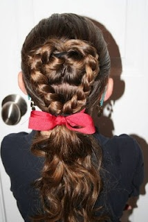Flip-Braided Heart Ponytail {Easy Valentine's Day Hairstyles in under 5 minutes!}  If you like it, please feel free to share it!
