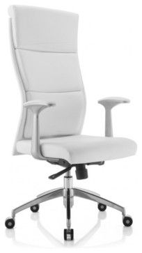 Harvard Executive High Back Office Chair In White