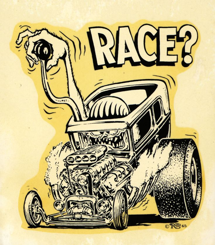 """Ed """"Big Daddy"""" Roth race? decal   In H. S. I drew this car so often that I could do it from memory with out any thing to look at."""