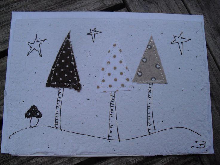 """Handgeschöpfte Karte """"Weihnachten"""" im hohen Tann von einfach-B auf DaWanda.com"""