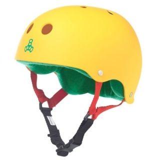 Chris: Triple 8 Brainsaver Rubber Helmet with Sweatsaver Liner Rasta Yellow S/M (21.5 as of 2/16/2015) $39.99