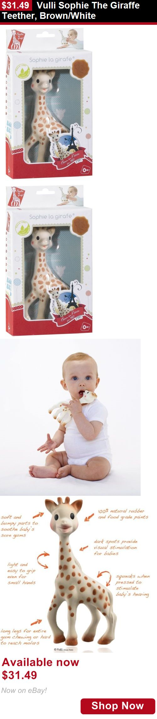 Teethers: Vulli Sophie The Giraffe Teether, Brown/White BUY IT NOW ONLY: $31.49