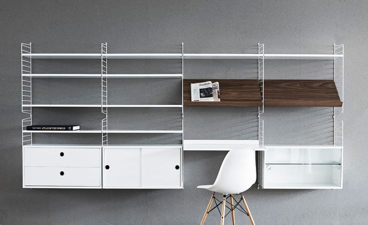 String shelf from String. Design by Nils Strinning. #shelf #classics