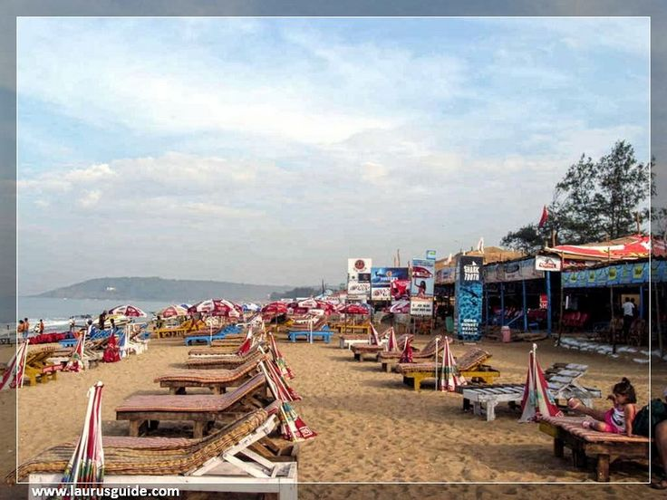 Calangute is a town in North Goa, famous for its beach. The beach is the largest in North Goa and visited by thousands of domestic and international tourists alike. The peak tourist season is during Christmas and New Year, and during the summer in May. The beach offers water sport activities like parasailing and water skiing, among others.