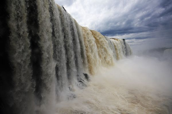 Iguazú Falls on the border between Brazil and Argentina in South America