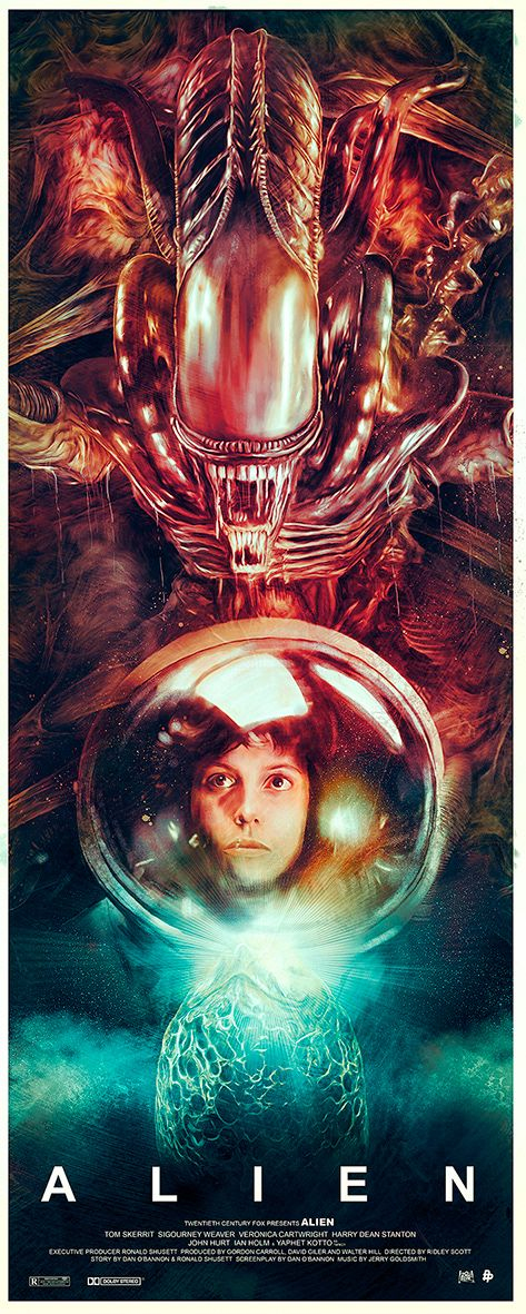 A poster project to celebrate the 35th anniversary of the classic sci-fi horror movie, Alien.
