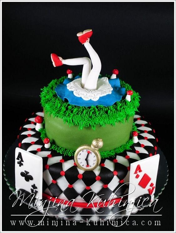Alice in Wonderland cake- 21st birthday? Maybe?! Yes (: