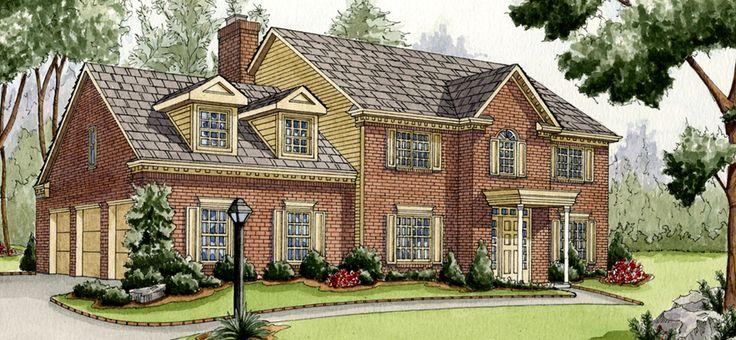 House rendering in watercolors