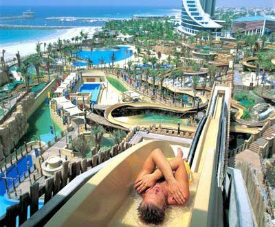 #Dubai Water Parks an ultimate fun for all - The Global Travel Guide... One of the Biggest water park and the fastest slides aswell...