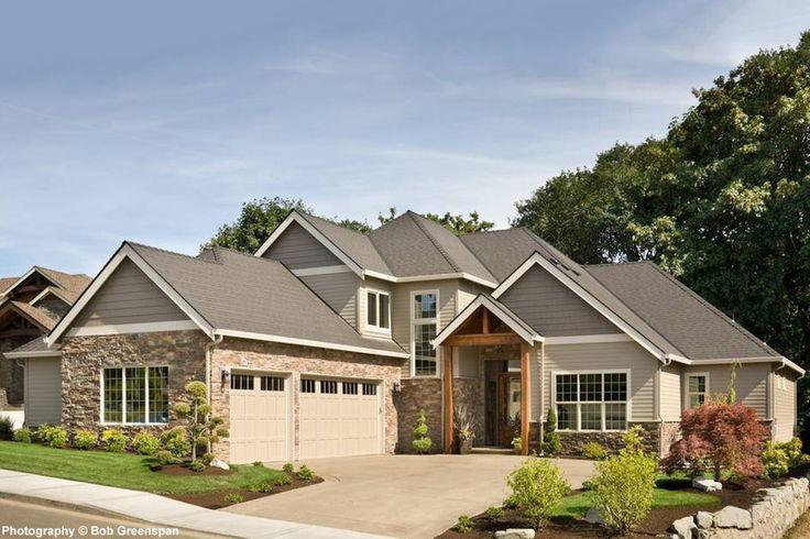 Craftsman Style House Plan - 4 Beds 3.50 Baths 3084 Sq/Ft Plan #48-615 Exterior - Front Elevation - Houseplans.com