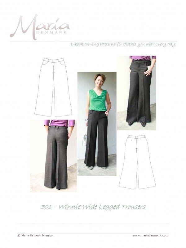 Winnie wide legged trouser pattern