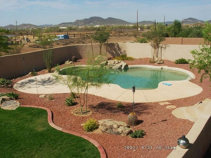Best 25 desert landscaping backyard ideas on pinterest for Back garden swimming pool