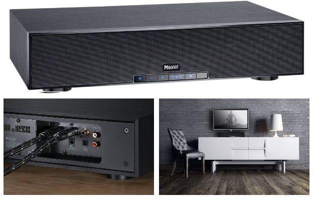 ¡Chollo! Barra de sonido Magnat Sounddeck 200 para cine en casa con subwoofer integrado, Bluetooth y HDMI por 179 euros.