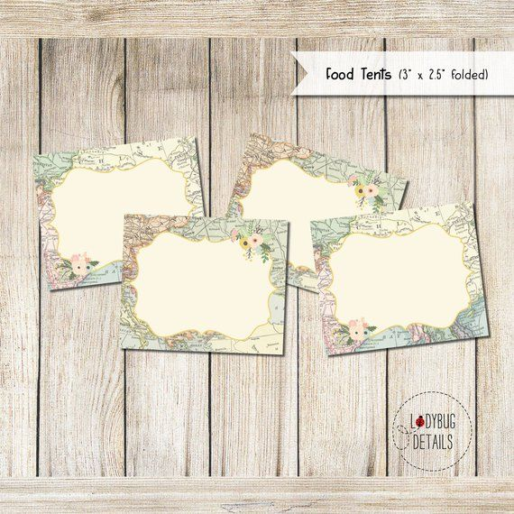 Adventure baby Shower Adventure Awaits Shower Travel Theme Buffet Card Template Food tent Card Template BSMB Party Food Label Card