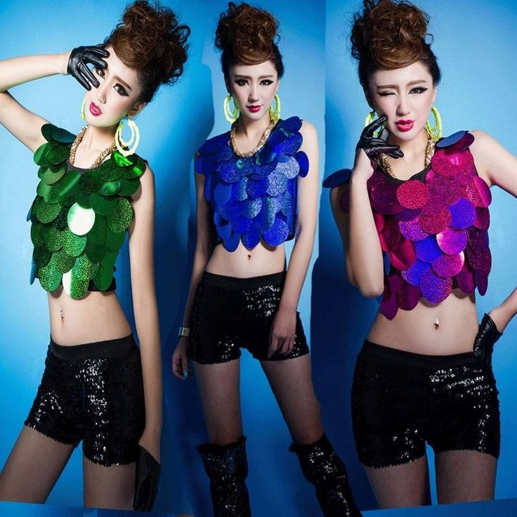 Sexy Girl Laser Sequins Crop Top Vest Night Club Dance Tops Sleeveless Mini Wear #Unbranded #Blouse #Clubwear