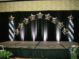 Image result for how to decorate a stage backdrop for graduation